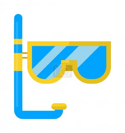 Snorkeling vector illustration.
