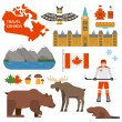 Постер, плакат: Canada symbols vector illustration