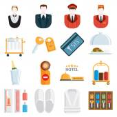 Hotel icons vector illustration