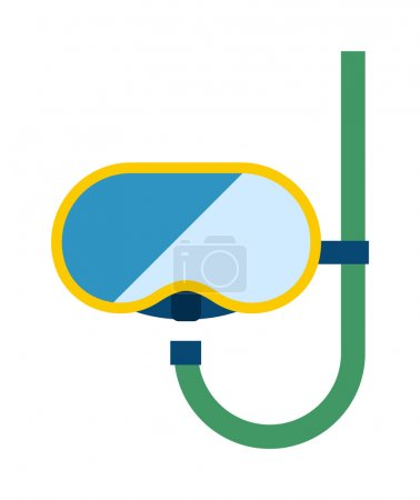 Snorkeling diver mask vector illustration.