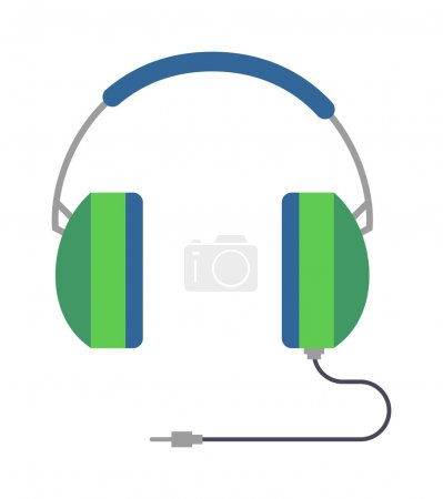 Headphones vector illustration.