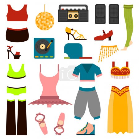Vector design dance clothes.