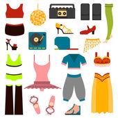 Vector design dance clothes