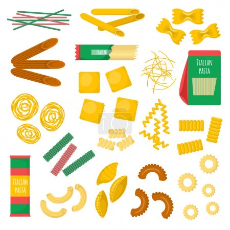 Pasta products vector illustration.