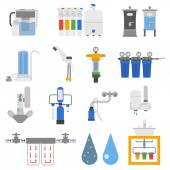 Water filters vector set