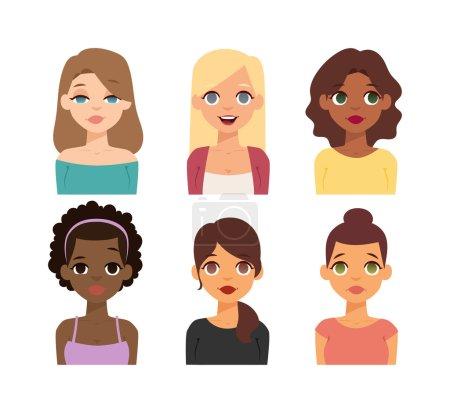 Woman nationality race vector illustration.