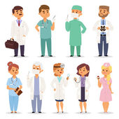 Different doctors charactsers vector set