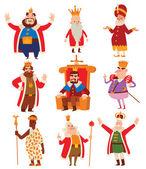 Kings cartoon vector set