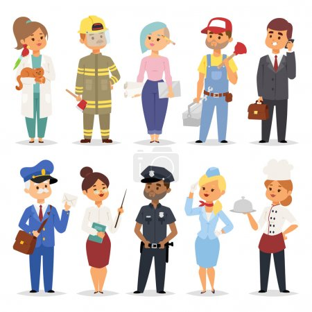 People professions vector set.