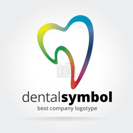 Abstract vector dantist tooth logotype isolated on white background