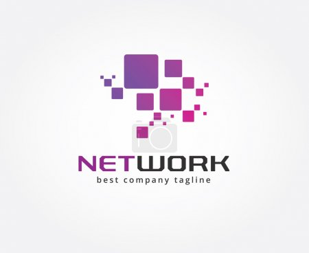 Abstract network vector logo icon concept. Logotype template for branding and design