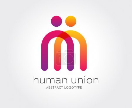 Illustration for Abstract human logo template for branding and design - Royalty Free Image