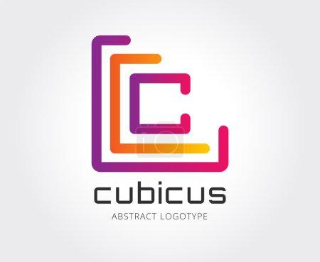 Abstract copyright logo