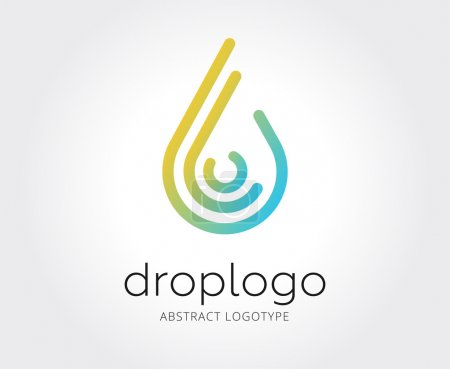 Abstract water drop logo template for branding and...