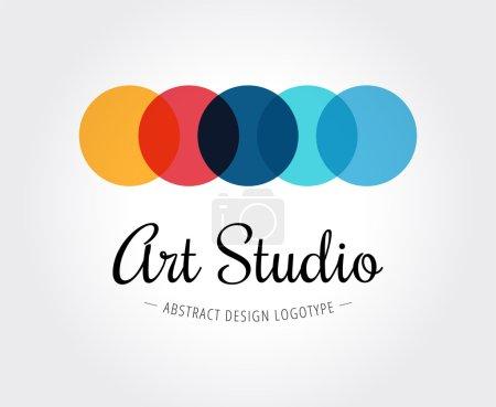Illustration pour Modèle de logo abstrait pour la marque et le design - image libre de droit