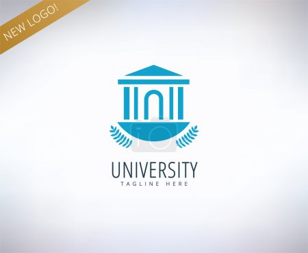Illustration for University vector logo icon. Education, students or school and college symbol. Stock design element - Royalty Free Image