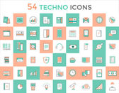 Business vector logo icons set Objects techno and finance symbols Stock design elements