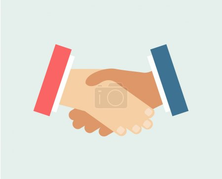Handshake vector logo icon isolated. Friends, Hands or Team and Communication symbols. Stock design elements.