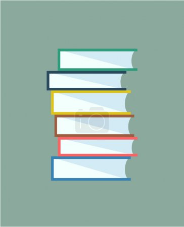 Illustration for Books stack vector. Icon isolated. School objects, or university and college symbols. Stock design elements - Royalty Free Image