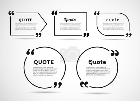 Illustration for Quote text bubble. Commas, note, message and comment. Vector stock element for design - Royalty Free Image