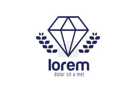 Vintage old diamond logo. Diamond icon template. V...
