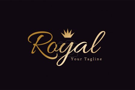 Illustration for Royal logo vector template. Hotel logo. Kings symbol. Royal crests monogram. Kings Top hotel. Letter R logo. Royal hotel, Premium R brand boutique, Fashion R logo, Lawyer logo. Crown. vintage modern - Royalty Free Image