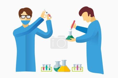 Science laboratory vector people set