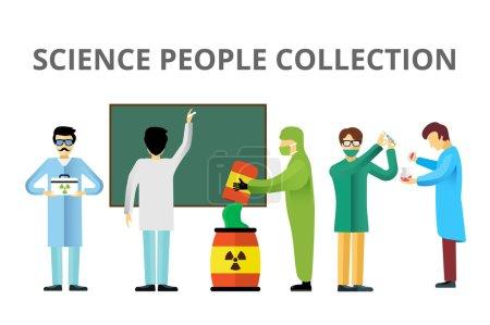 Science laboratory radiation biology vector people
