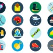 Постер, плакат: Winter sport vector icons set