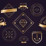 Постер, плакат: Massive logo set bundle vector icons badge