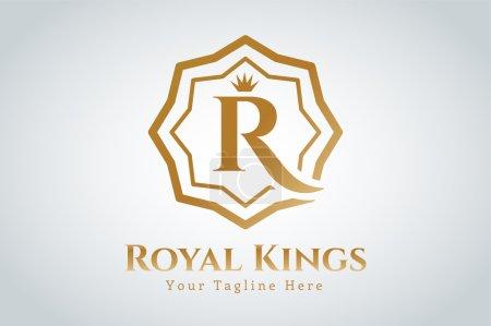 Modèle de logo royal vectoriel hôtel