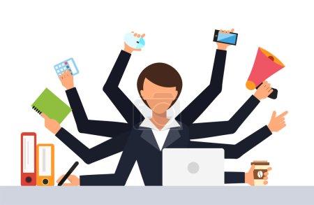 Office job stress work vector illustration