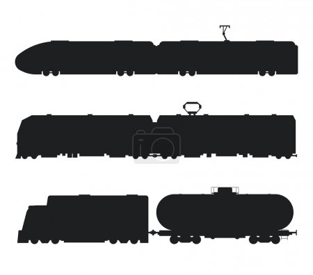 Modern, vintage trains