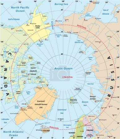 Arctic Vector Map