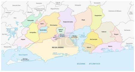 carte administrative et politique du Grand Rio de Janeiro
