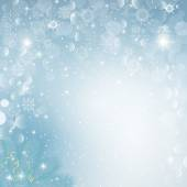 Vector illustration of Christmas snow background with fir branch