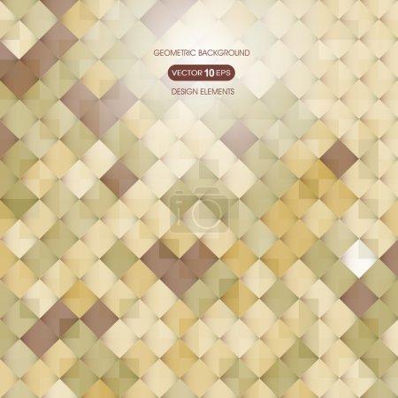Abstrait fond beige avec des éléments de géométrie, carrée