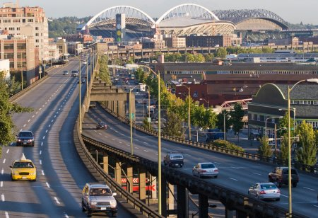 Photo for Horizontal Day shot of downtown Seattle - Royalty Free Image