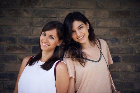 Two beautiful girls posing