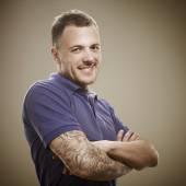 Portrait of a tattooed male