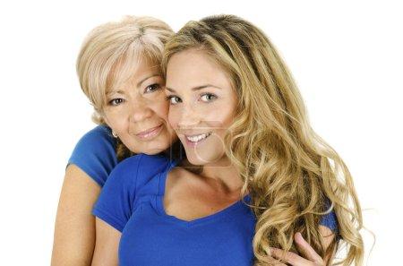 Photo pour Portrait d'une femme âgée et une jeune femme - image libre de droit