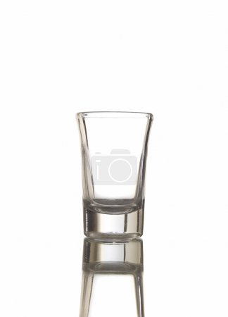 Empty shot glass