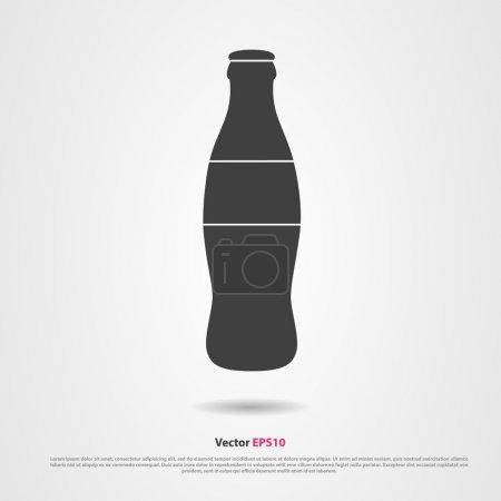Drink bottle black silhouette vector icon