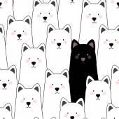 Seamless pattern cats