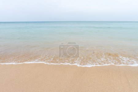 Photo for Ocean waves and beach with sand  on Koh Lanta, Krabi,Thailand - Royalty Free Image