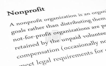 Nonprofit concept for presentation