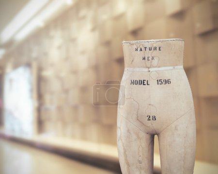 Old Tailors dummy, Mannequins vintage in showroom, Vintage color