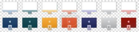 Illustration pour Set of new iMac computer - image libre de droit