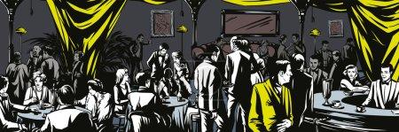 Illustration pour Bar souterrain Interdiction. Illustration vectorielle - image libre de droit
