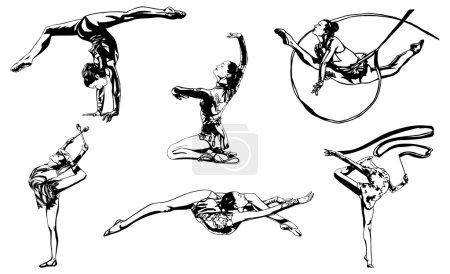Acrobatic female athlete